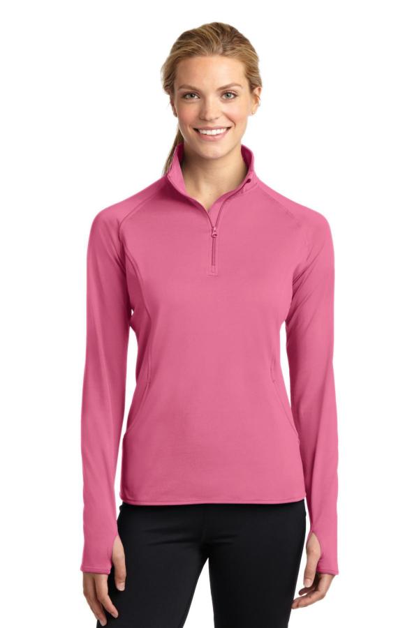 Sport-Tek Embroidered Women's Sport-Wick Stretch 1/4-Zip Pullover